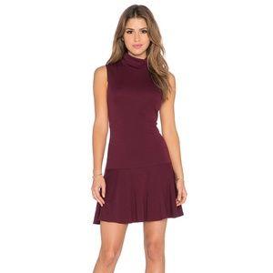 Alice + Olivia Glenn Drop Waist Turtleneck Dress